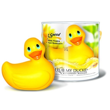 Bade-Ente 'I RUB MY DUCKIE' yel. 3-speed -