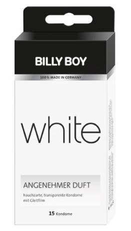 Billy Boy white Kondome transparent, 15er Packung, 15 Kondome -