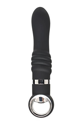 Closet Collection Black Door Number 13 Ribbed Pleaser Vibrator -
