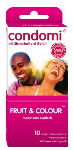 Condomi Fruit & Colour 10er, 1er Pack (1 x 10 Stück) -