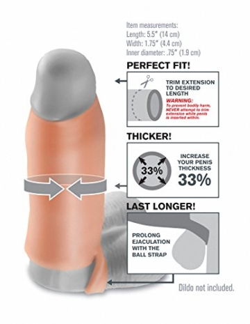 Fantasy X-Tensions by Pipedream 05103510000 Real Feel Enhancer Penis Extension - Penis Sleeve mit Hodenring  - 14 cm lang - Außen-Durchmesser: 4,4 cm - skin -