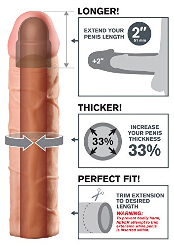 Fantasy X-Tensions by Pipedream PD4111-21 Perfect 2 inch Penis Extension - Penis Sleeve / Penismanschette - 20,3 cm lang - Außen-Durchmesser: 4,4 cm - skin -