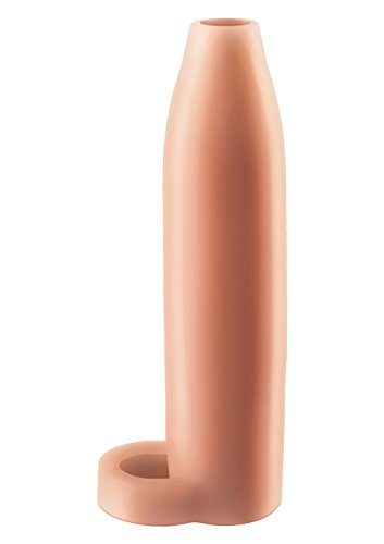 Fantasy X-Tensions by Pipedream PD4120-21 Real Feel Enhancer XL Penis Extension - Penis Sleeve / Penishülle mit Hodenring - 17,8 cm lang - Außen-Durchmesser: 3,6 cm - skin -