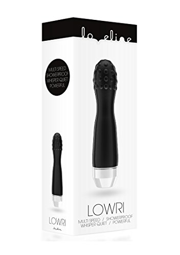 Loveline by Shots - Lowri - Multi Speed Vibrator - wasserfest - schwarz - diameter 35 mm - Länge: 150 mm -