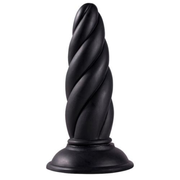 Menzstuff Twisted Buttplug in Schwarz -