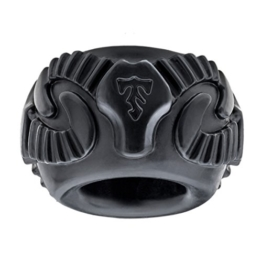 Perfect Fit Tribal Son Ram Ring Penis Ring Black -