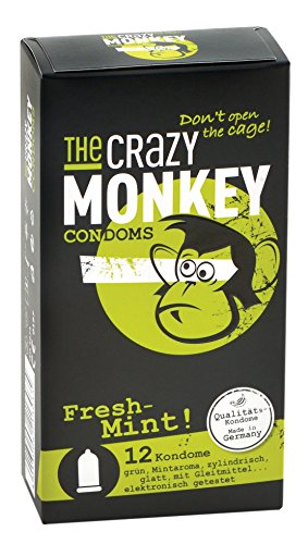 The Crazy Monkey Condoms Fresh Mint, 12er Packung -