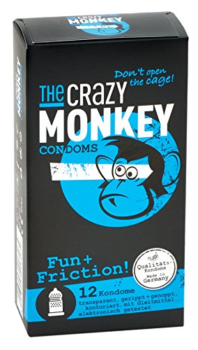 The Crazy Monkey Condoms Fun+Friction, 12er Packung -