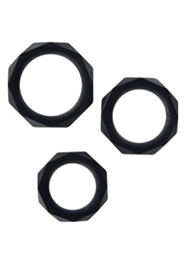 TOYJOY MANPOWER Power Halo C-Ring Set black, 1 Stück -