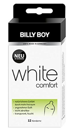 Billy Boy White Comfort Kondome Transparent 12er -